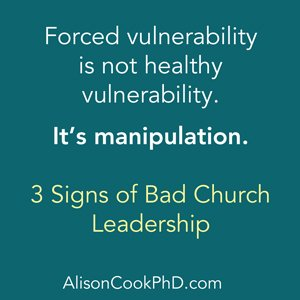 signs of bad church leadership